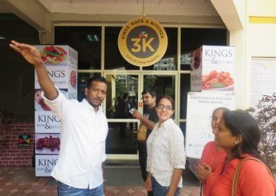Students at Kings Kafe Interacting with the CEO
