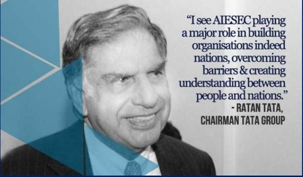 Ratan Tata endorses AIESEC for creating global internship opportunities