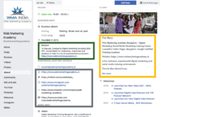 Optimizing your Facebook business profile for Social Media