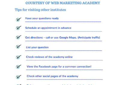 Web Marketing Academy Score Card: How to find the right Digital Marketing Training Institute