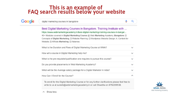 Google FAQ Structured Data