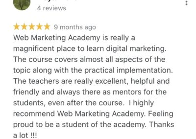 Web Marketing Academy Rated Top 10 Digital Marketing Institute in India